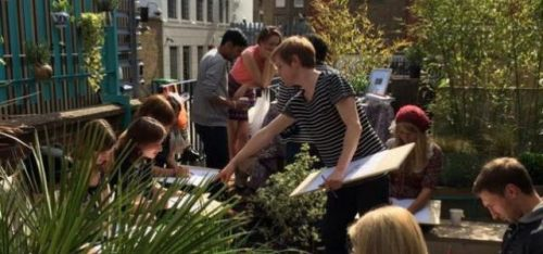 CAMDEN CREATE FESTIVAL: ROOFTOP DRAWING CLASS AND TEA PARTY